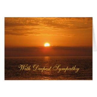 Puesta del sol de oro de la condolencia tarjeta de felicitación