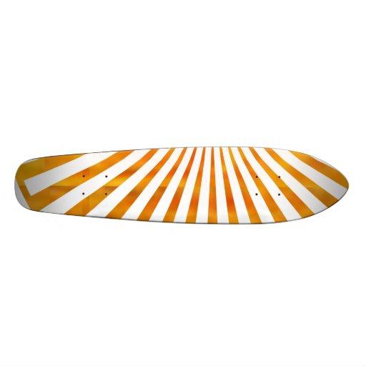Puesta del sol de oro de la sol patinetas personalizadas