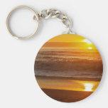 Puesta del sol de oro en la playa de Horsfall Llaveros Personalizados