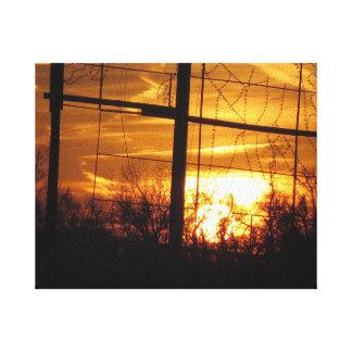 Puesta del sol de oro - la colina NJ los E.E.U.U. Impresiones En Lona Estiradas