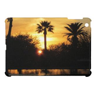 Puesta del sol de oro sobre caso del iPad de Tucso iPad Mini Carcasa