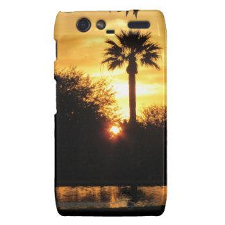 Puesta del sol de oro sobre el caso de Tucson Droi Motorola Droid RAZR Carcasas