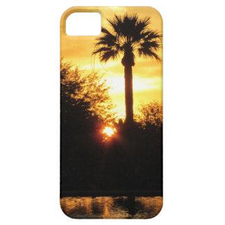 Puesta del sol de oro sobre el caso del iPhone 5 d iPhone 5 Funda