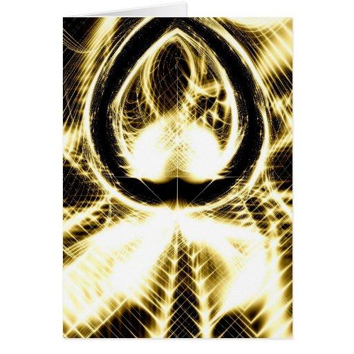 Puesta del sol de oro tarjeta