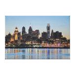 Puesta del sol de Philly Lona Envuelta Para Galerías