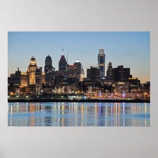 Puesta del sol de Philly Posters