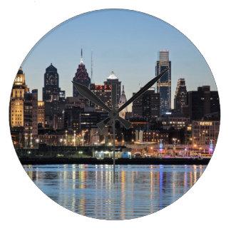 Puesta del sol de Philly Relojes De Pared