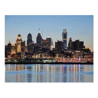 Puesta del sol de Philly Postales