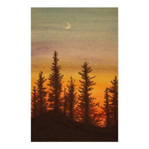Puesta del sol de Pinetree Papeleria De Diseño