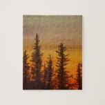 Puesta del sol de Pinetree Rompecabezas Con Fotos