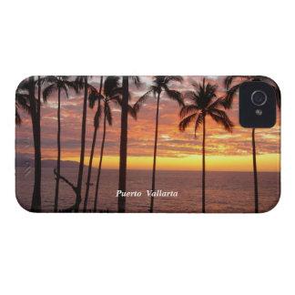 Puesta del sol de Puerto Vallarta iPhone 4 Case-Mate Funda
