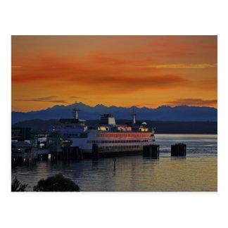 Puesta del sol de Puget Sound Postales