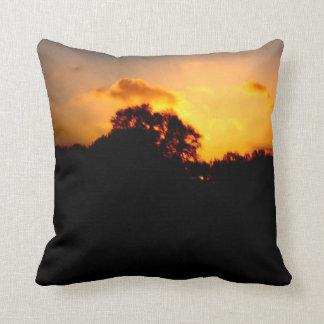 Puesta del sol de relajación almohada