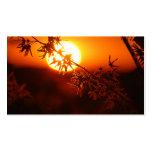 Puesta del sol de relajación tarjetas de visita