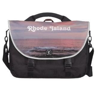 Puesta del sol de Rhode Island Bolsas Para Portátil