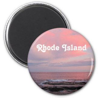Puesta del sol de Rhode Island Imanes