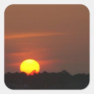 Puesta del sol de San Blas del cabo Pegatina Cuadrada