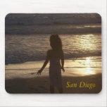 Puesta del sol de San Diego Alfombrillas De Ratón