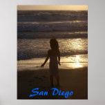 Puesta del sol de San Diego Impresiones