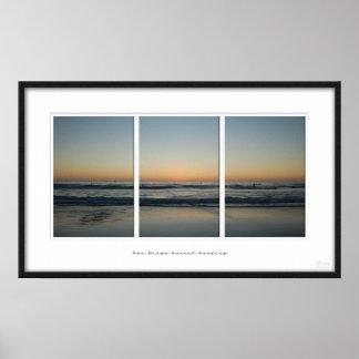 Puesta del sol de San Diego Posters