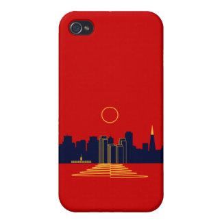 Puesta del sol de San Francisco iPhone 4 Protector