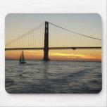 Puesta del sol de San Francisco Tapetes De Ratón