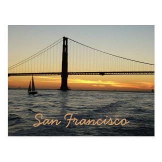 Puesta del sol de San Francisco Postales