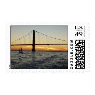 Puesta del sol de San Francisco Timbres Postales