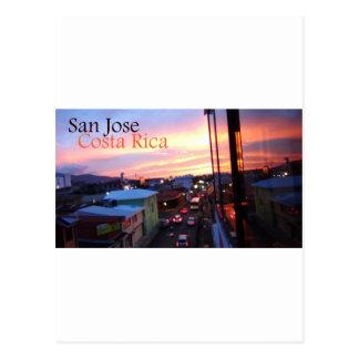 Puesta del sol de San Jose Costa Rica Postales