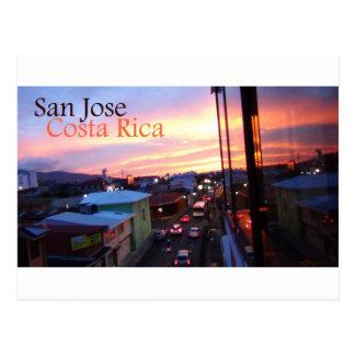 Puesta del sol de San Jose Costa Rica Tarjeta Postal