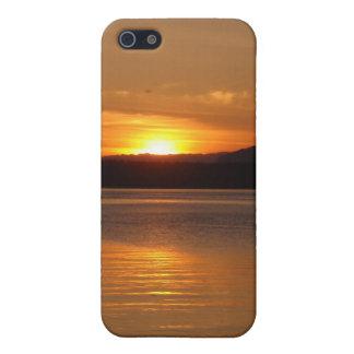 Puesta del sol de San Juan Washington de la isla d iPhone 5 Protector