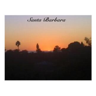 Puesta del sol de Santa Barbara Postales