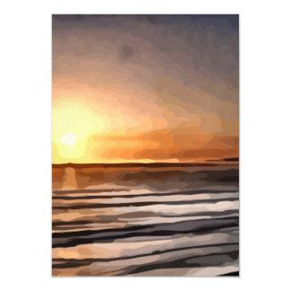Puesta del sol de Santa Cruz que pinta la tarjeta Invitaciones Magnéticas