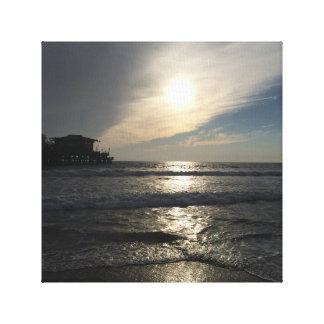 Puesta del sol de Santa Mónica Impresiones De Lienzo