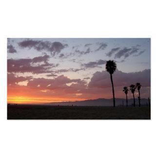 puesta del sol de Santa Mónica Plantilla De Tarjeta De Visita