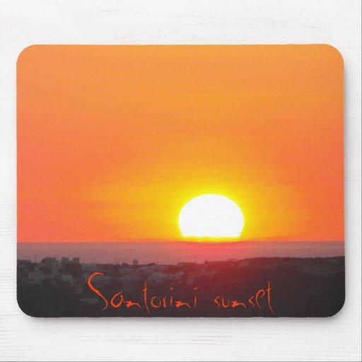 Puesta del sol de Santorini, Grecia Alfombrilla De Ratones