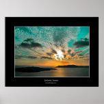 Puesta del sol de Santorini Impresiones