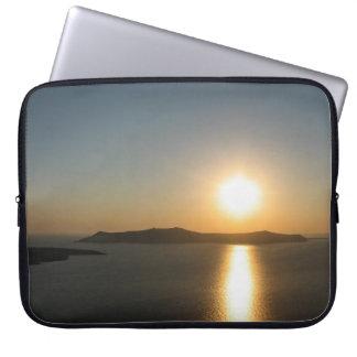 Puesta del sol de Santorini, las islas griegas Fundas Ordendadores