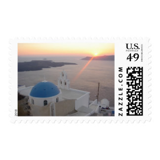 Puesta del sol de Santorini Sellos