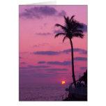 Puesta del sol de Shephards, Clearwater, la Florid Felicitación