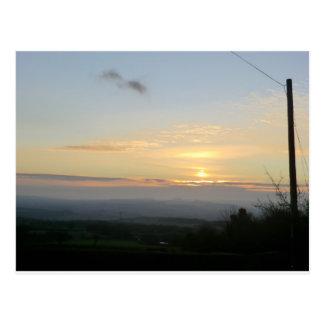 Puesta del sol de Shropshire Tarjeta Postal