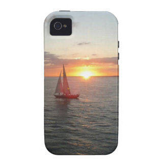 Puesta del sol de Solent Case-Mate iPhone 4 Fundas