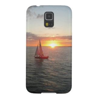 Puesta del sol de Solent Funda De Galaxy S5