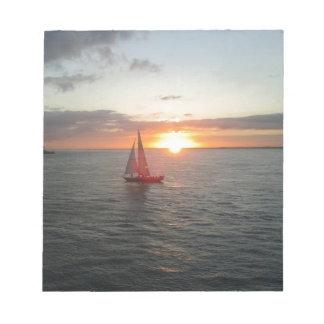 Puesta del sol de Solent Libretas Para Notas