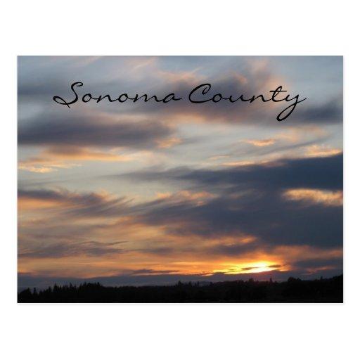 Puesta del sol de Sonoma Postales