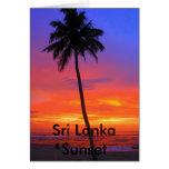 Puesta del sol de Sri Lanka Tarjetón