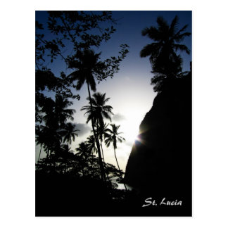 Puesta del sol de St Lucia Postales
