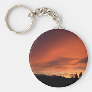 Puesta del sol de Strathspey Llavero Redondo Tipo Pin