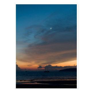 Puesta del sol de Tailandia - de Karbi Tarjetas Postales