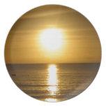 Puesta del sol de Tangalooma Platos Para Fiestas